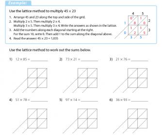 lattice multiplication 3. Black Bedroom Furniture Sets. Home Design Ideas