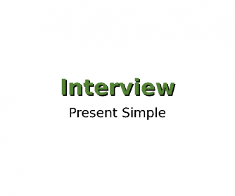 Present Simple Interview PPT