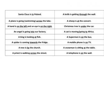 Preposition Charades