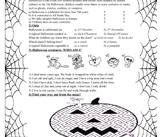 Halloween Worksheet