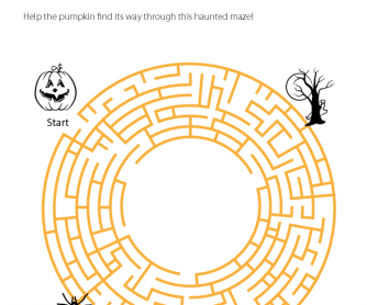Halloween Worksheet - Haunted Maze