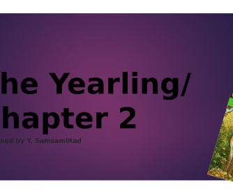 The Yearling, Chapter 2
