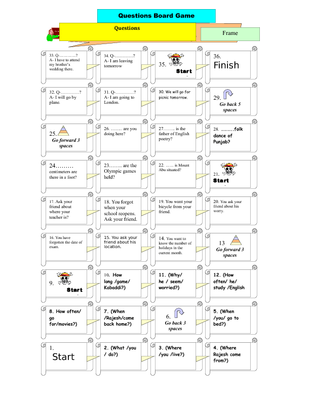 449 FREE Printable Worksheets on Questions and Short Answers