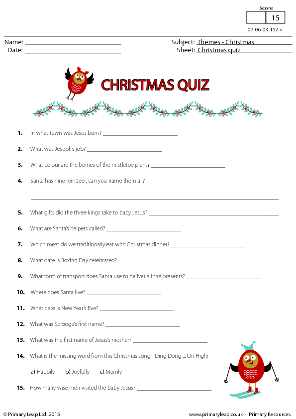 Fun Christmas Quiz