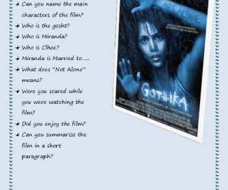 Movie Worksheet: Gothika