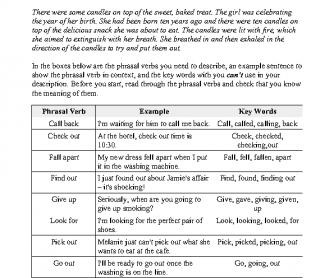Phrasal Verbs Speaking Game - Don't Say It!