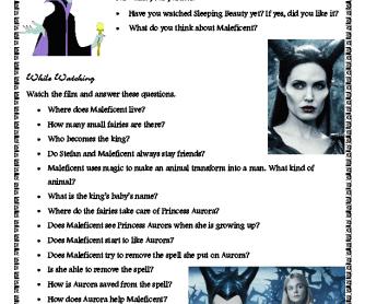 Movie Worksheet: Maleficent