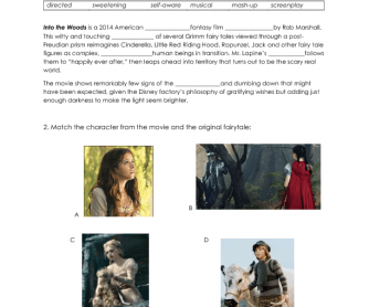 Movie Worksheet: Into the Woods