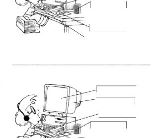 simple computer equipment vocabulary. Black Bedroom Furniture Sets. Home Design Ideas