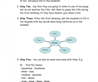 Aldiablosus  Surprising  Free Listening Worksheets With Luxury Song Worksheet California By Frank Sinatra With Easy On The Eye Decomposing Fractions Worksheet Th Grade Also Commas Worksheet In Addition Adding And Subtracting Rational Numbers Worksheet And Story Structure Worksheets As Well As The Water Cycle Worksheet Additionally Printable Worksheets For Preschool From Busyteacherorg With Aldiablosus  Luxury  Free Listening Worksheets With Easy On The Eye Song Worksheet California By Frank Sinatra And Surprising Decomposing Fractions Worksheet Th Grade Also Commas Worksheet In Addition Adding And Subtracting Rational Numbers Worksheet From Busyteacherorg