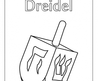 Colouring Worksheet - Dreidel