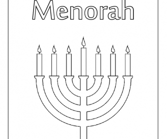 Colouring Worksheet - Menorah