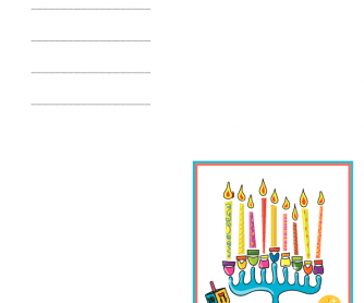 Greetings Card - Happy Hanukkah