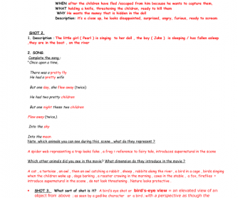 Movie Worksheet: Night of the Hunter Riverboat Scene Key