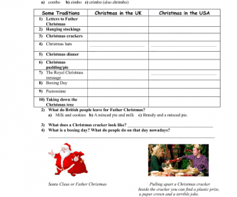 Movie Worksheet: How to Celebrate British Christmas