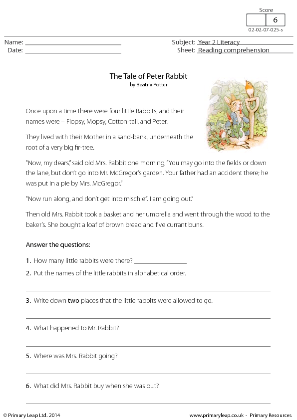 1,312 FREE Reading Comprehension Worksheets, Games and Tests