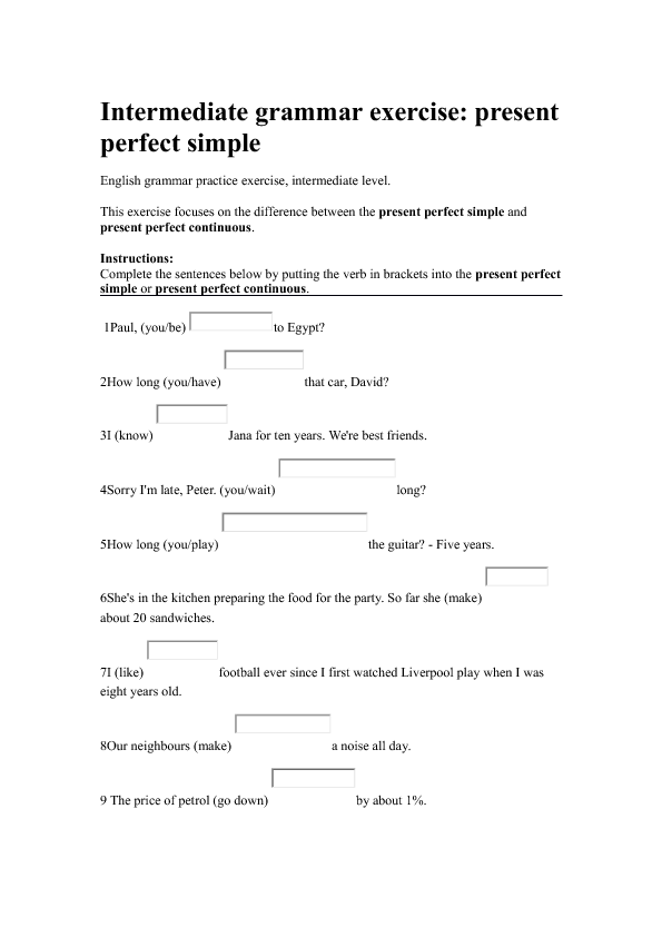 298 FREE Present Perfect Worksheets Teach Present Perfect With – Present Progressive Spanish Worksheet
