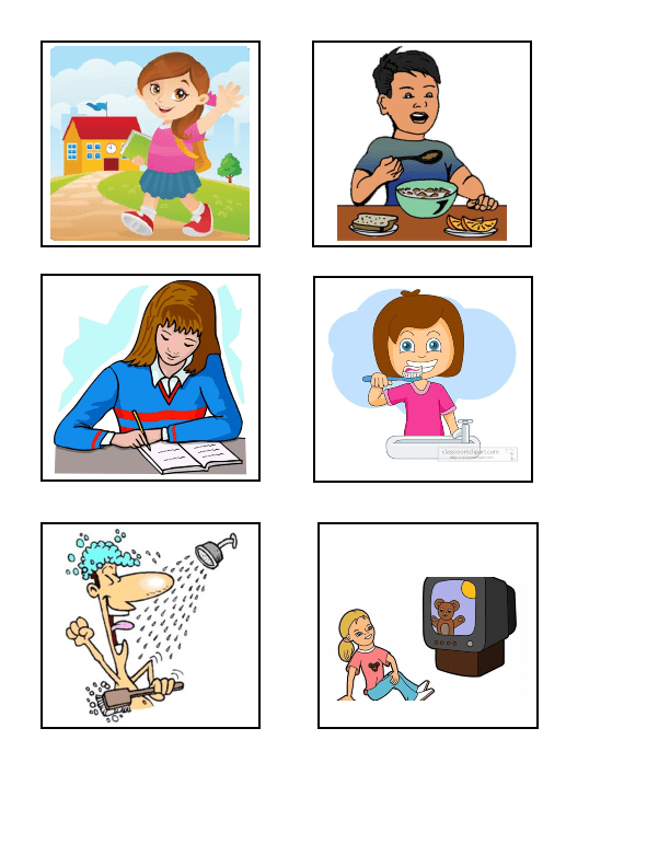 childs daily activities - 612×792
