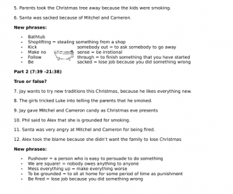 Movie Worksheet: Modern Family, Christmas Episode (Season 1, Episode 10)