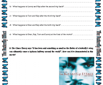 Movie Worksheet: The Butterfly Effect