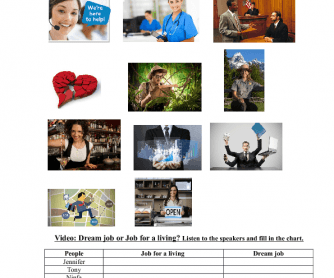 Movie Worksheet: Dream Job or Job for a Living?