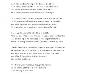 Song Worksheet: Tom's Diner by Suzanne Vega