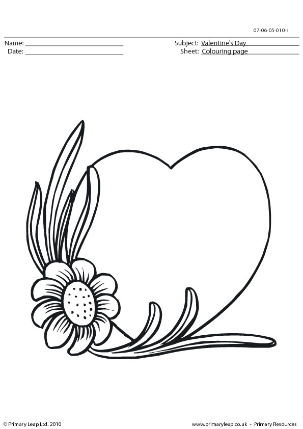 valentines day worksheet colouring page 11 - Painting Worksheets For Kindergarten