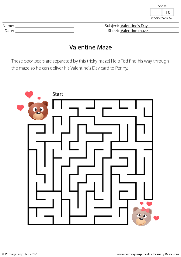 139 FREE Saint Valentine\'s Day Worksheets
