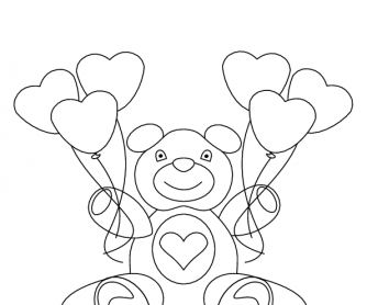 Valentine's Day Worksheet: Colouring Page 1