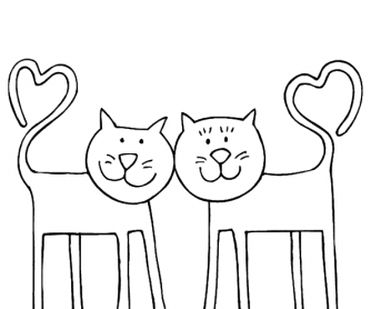 Valentine's Day Worksheet: Colouring Page 2