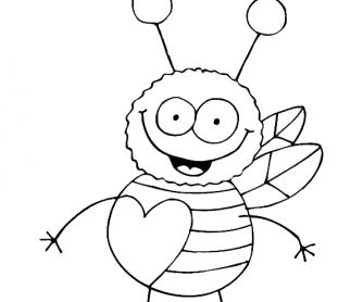 Valentine's Day Worksheet: Colouring Page 3