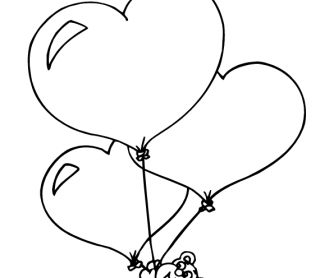 Valentine's Day Worksheet: Colouring Page 7