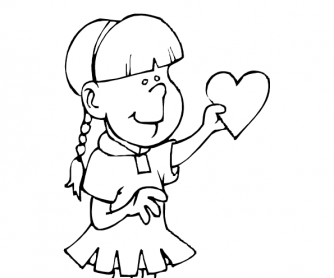 Valentine's Day Worksheet: Colouring Page 9