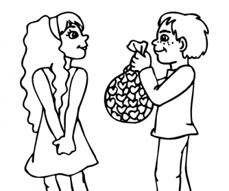 Valentine's Day Worksheet: Colouring Page 10