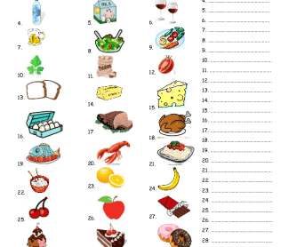 416 FREE Food Worksheets