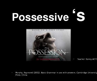 Possessive Case -'S
