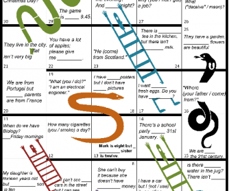 Snake Board Game (for Elementary Review)