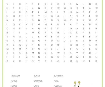 Spring Worksheet - Word Search
