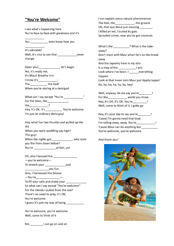 Career Worksheets For Kids Pdf  Free Countriesnationalities Worksheets Ez Worksheets Pdf with Multiplications Worksheets Word Song Worksheet Youre Welcome Disney Moana Mean Mode Median And Range Worksheet