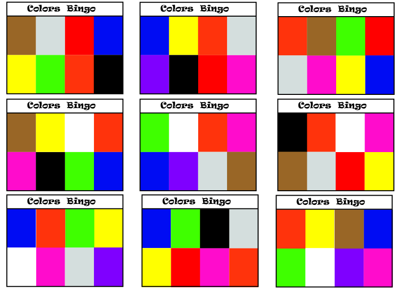 Pictures  Word  Letters Colours