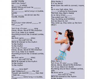 Song Worksheet: Chained to the Rhythm by Katy Perry