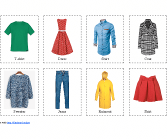 40 Flashcard of Clothing