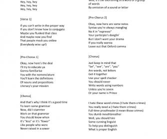 Song Worksheet: Word Crime