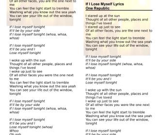 If i lose lyrics