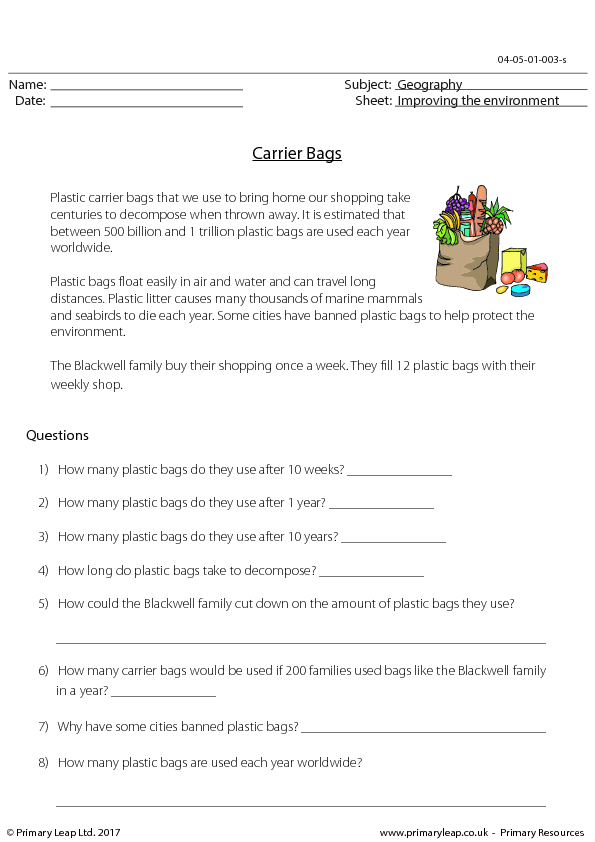 315 FREE Environment and Nature Worksheets