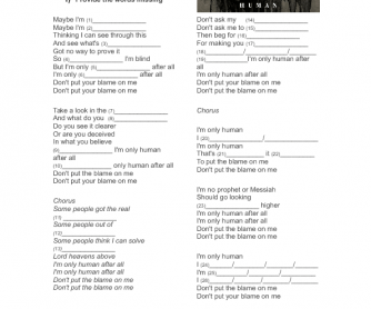Song Worksheet: Human - Rag'n'Bone Man