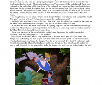 Reading: Alice in Wonderland
