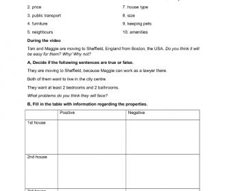 Movie Worksheet: International House Hunters