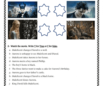 Movie Worksheet: Maleficent