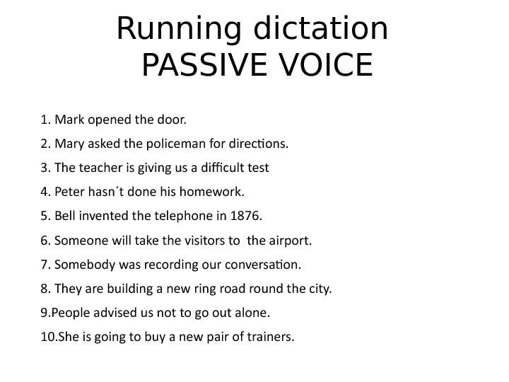 Active and passive voice quiz for grade 8